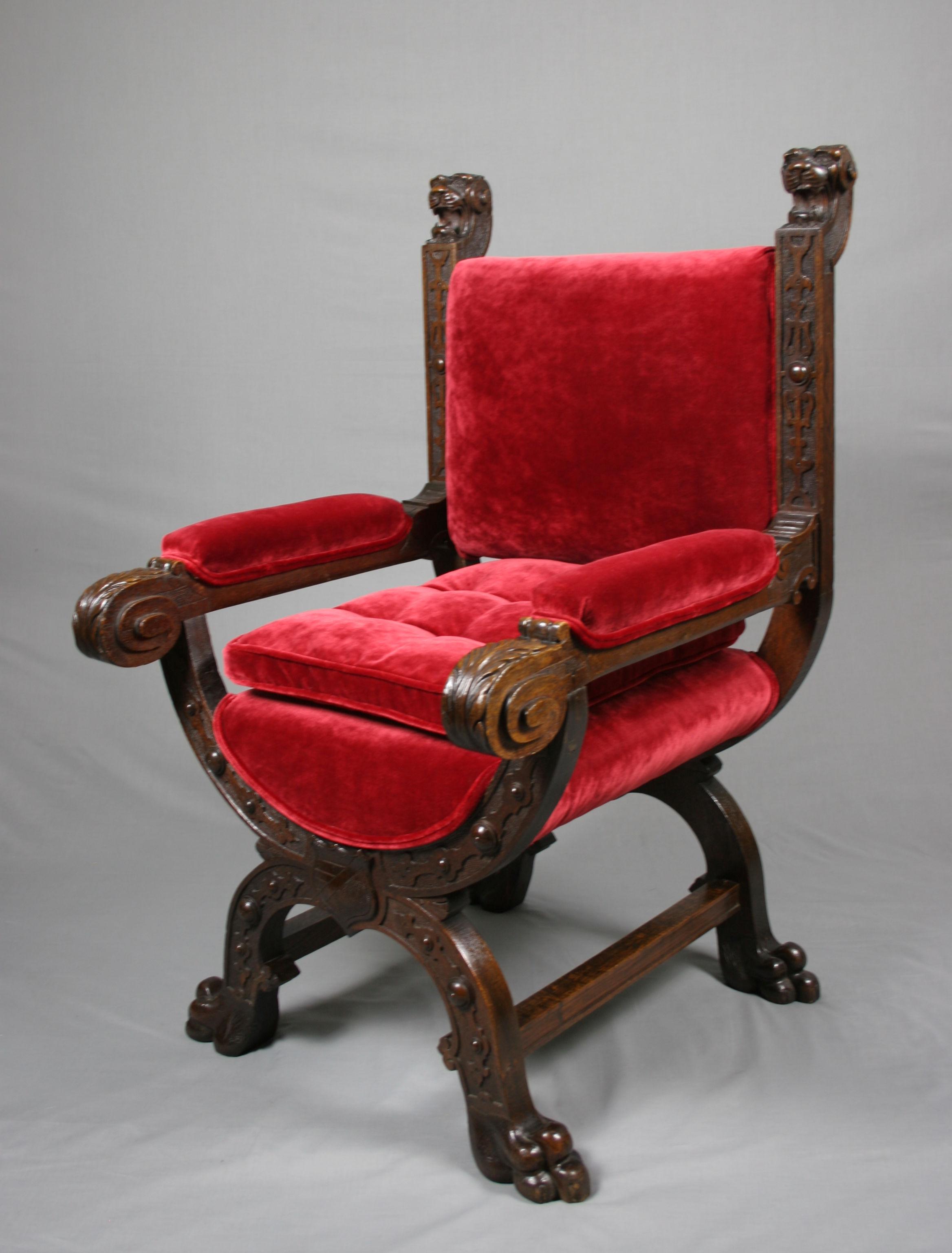 Victorian Gothic Furniture Antique Victorian Gothic Revival Oak Throne Antique