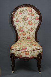 Antique Victorian Mahogany Nursing Chair