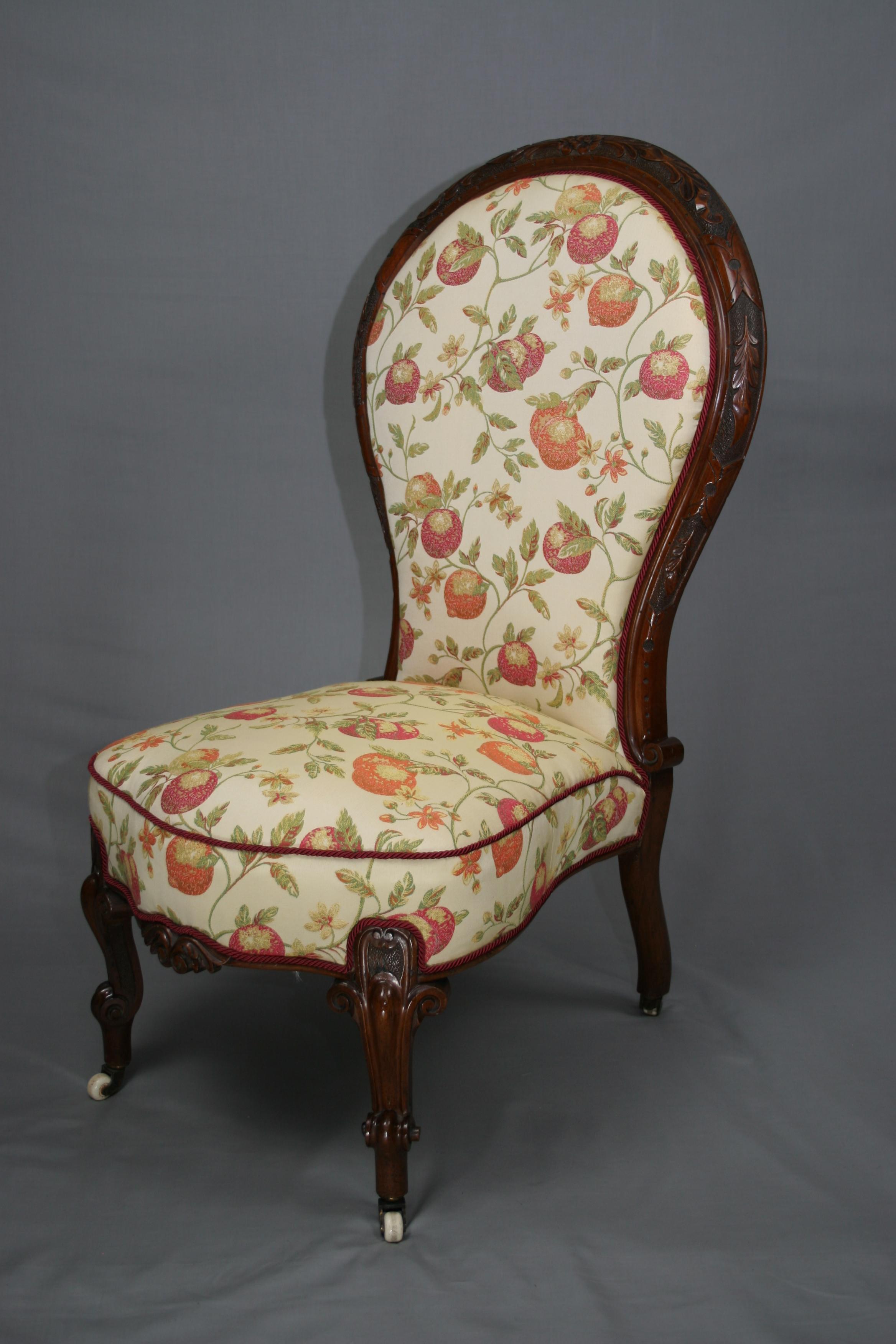 Antique nursing chair - Antique Victorian Mahogany Nursing Chair
