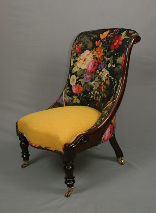 Antique William IV Rosewood Ladies Chair - UK Standards Rate 5 Working Days Archives - Bouncing Hare Creations