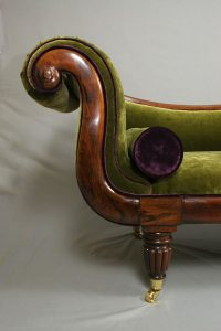 Regency Period Brazilian Rosewood Chaise Lounge