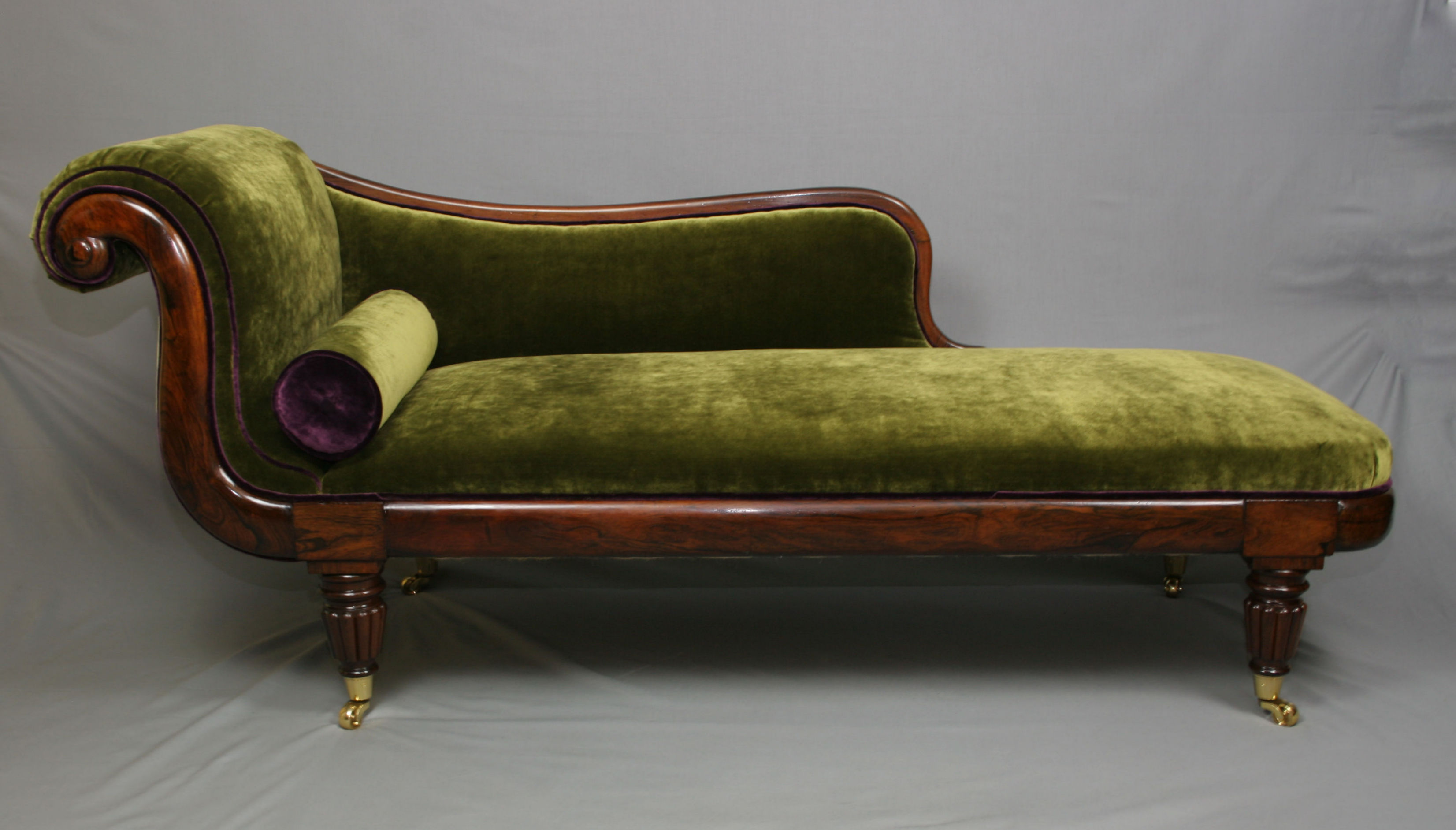 Regency Period Brazilian Rosewood Chaise Lounge ... : chaise lounge antique - Sectionals, Sofas & Couches