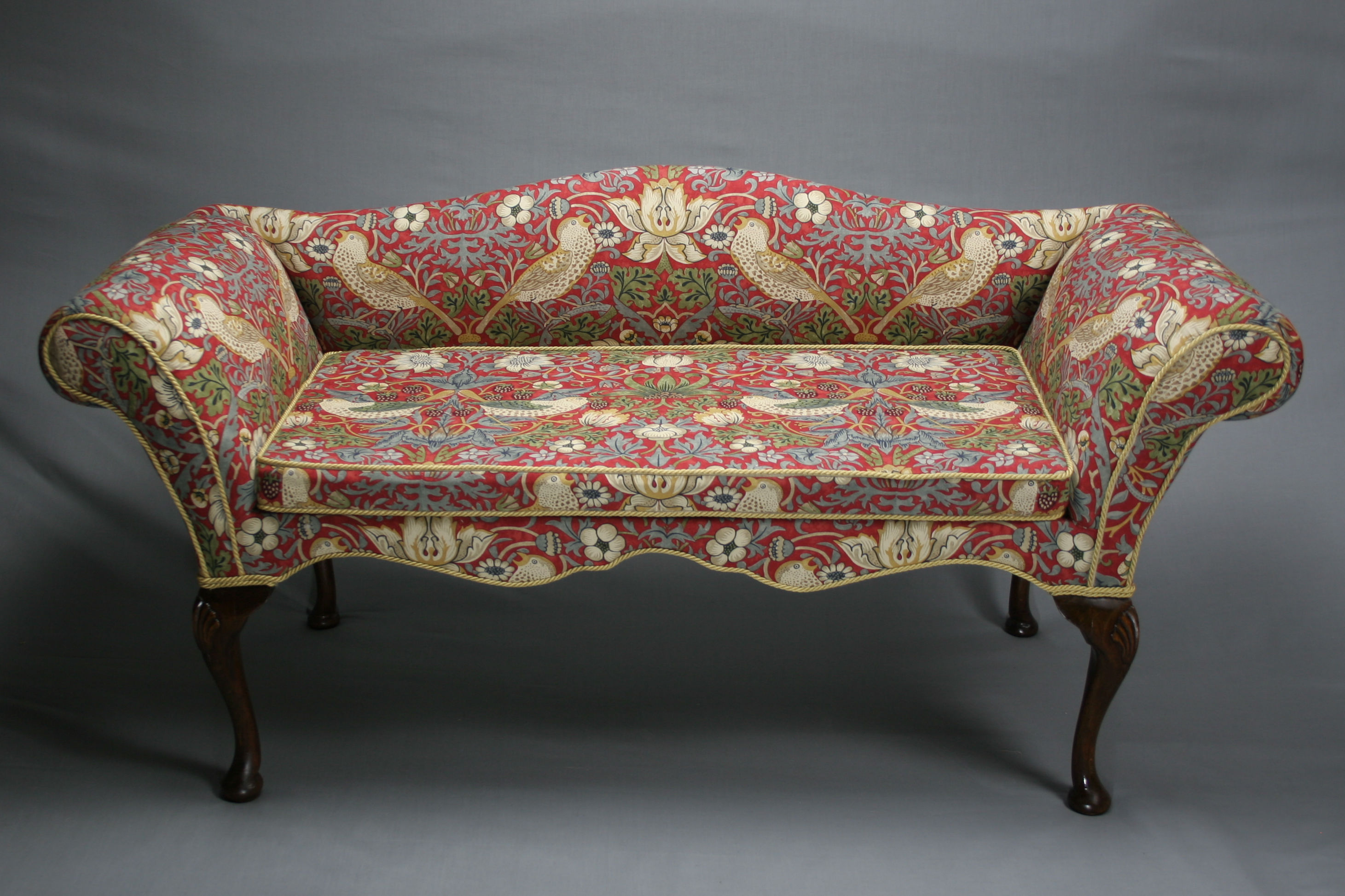 Vintage William Morris Love Seat Sold Antique Chairs