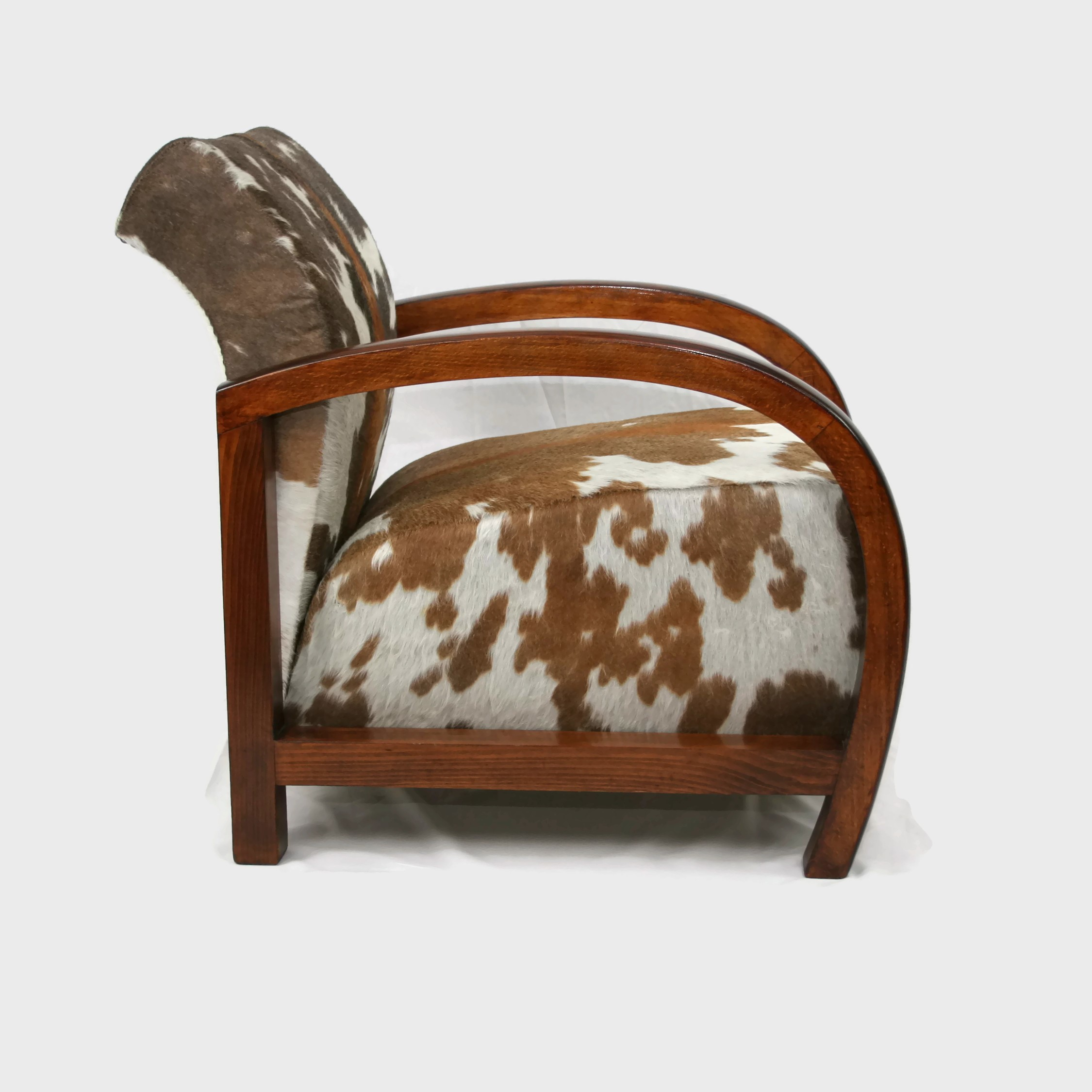French Art Deco Armchair upholstered in Zulu Cow Hide SOLD
