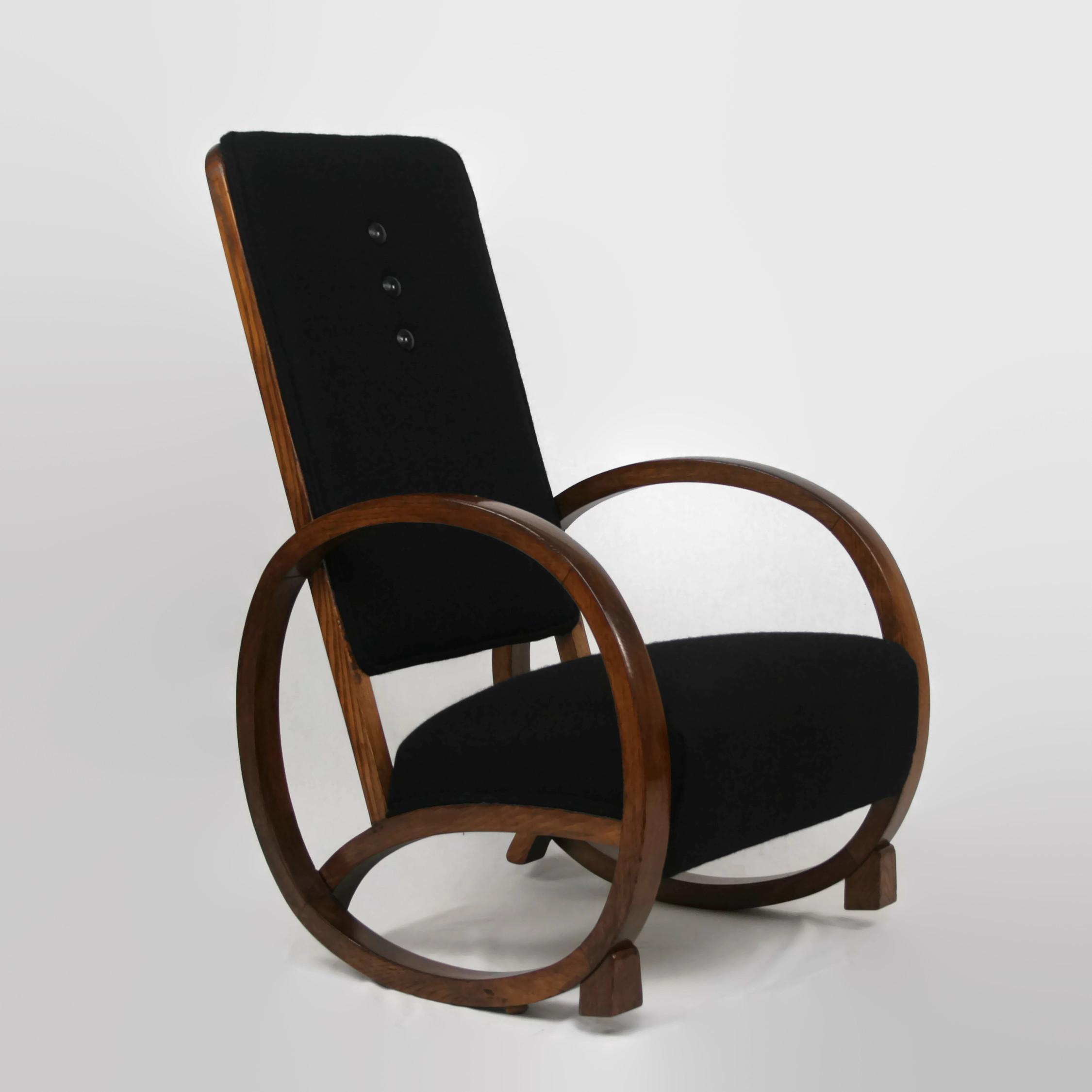 Art Deco Rocking Chair Antique Chairs Restoration