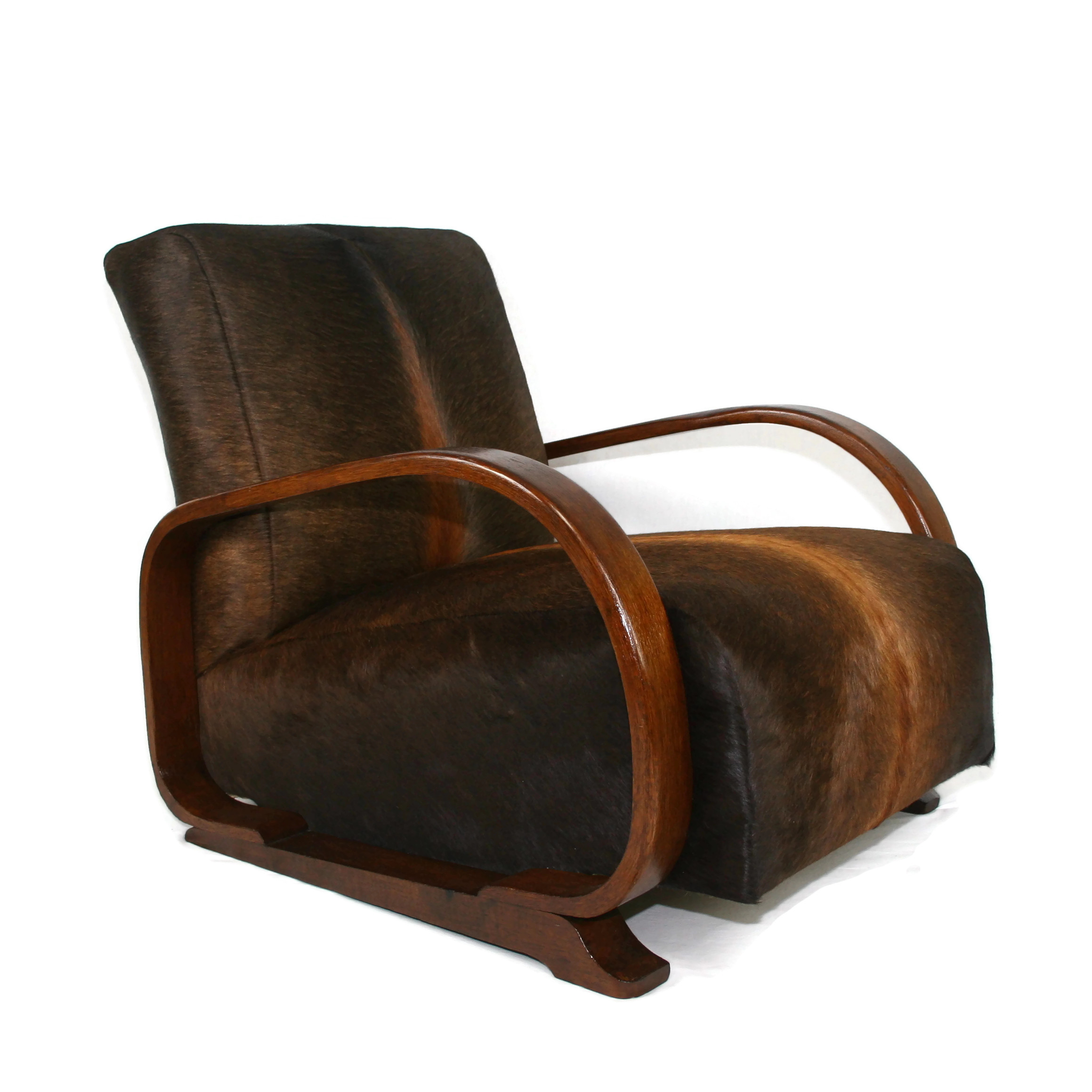 Awe Inspiring Heals Art Deco Armchair In South American Cow Hide Andrewgaddart Wooden Chair Designs For Living Room Andrewgaddartcom