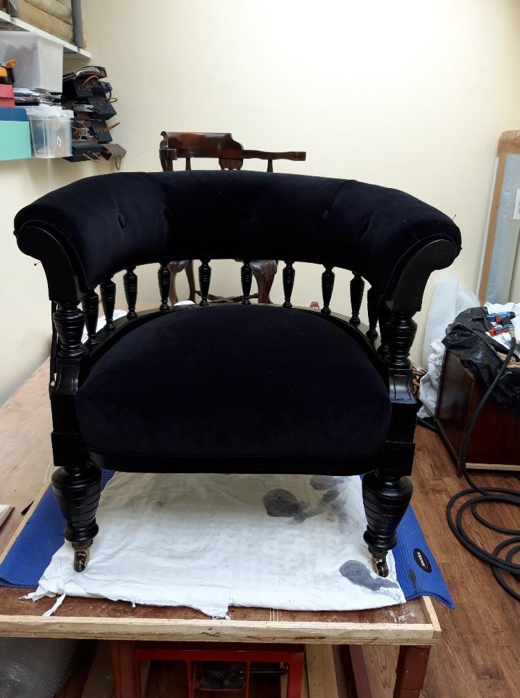Regency period library armchair