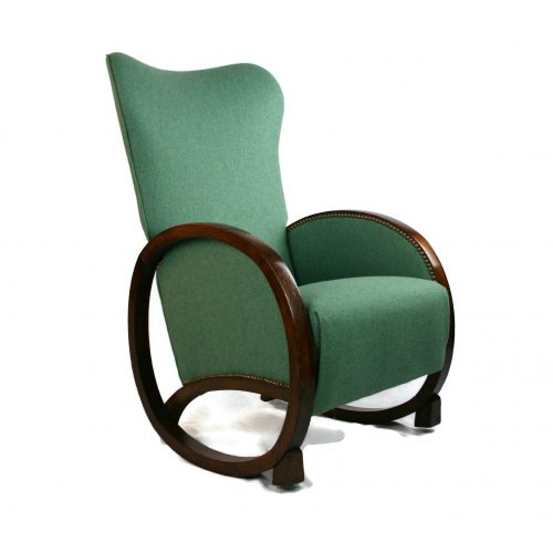Art Deco Wing-back Rocking Chair